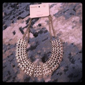 NWT Geometric Gold Plated Necklace
